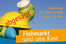 """Flohmarktplakat der Kita Mullewapp mit dem Hinweis """"abgesagt"""""""