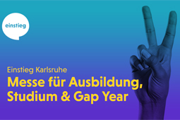 Logo und Header-Grafik der Messe Einstieg Karlsruhe.