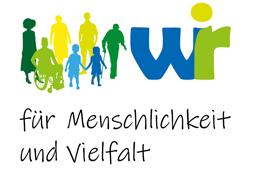 Logo WIR für Menschlichkeit und Vielfalt